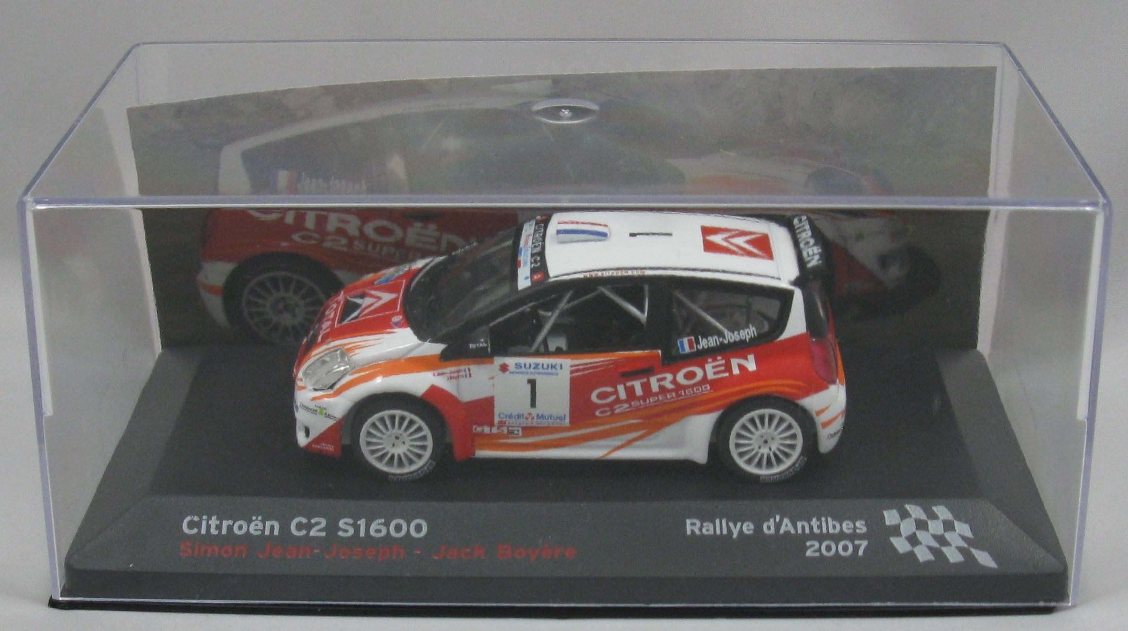 Citroen c2 s1600 rallye antibes 2007 1 43 collector95 for Citroen antibes garage